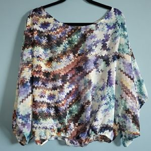 Multicolored pattern blouse
